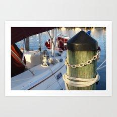 Dock Lines Art Print