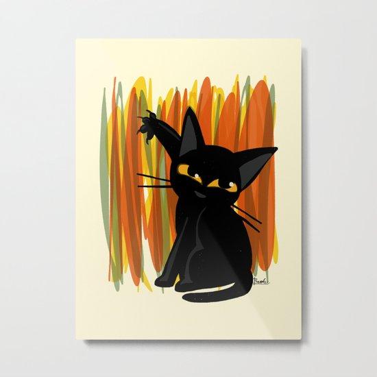 Cat artist Metal Print