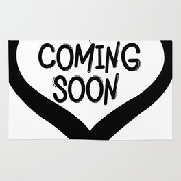 Coming Soon Pregnancy Announcement Gift Rug