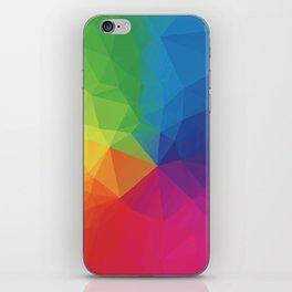 Rainbow Geometric Shapes iPhone Skin