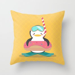 Let's Go Snorkeling Throw Pillow