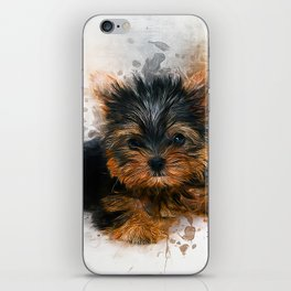 Yorkshire Terrier Puppy iPhone Skin