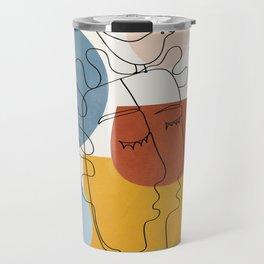 Abstract Colorful Faces I Travel Mug