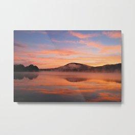 Crimson Dawn on Lake George Metal Print