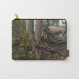 Rustic Buffalo in the Woods Carry-All Pouch