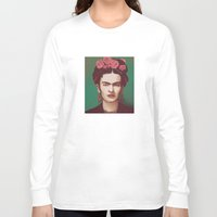 frida Long Sleeve T-shirts featuring Frida by ravynka