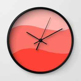 Living Coral Sushi Salmon Abstract Wall Clock