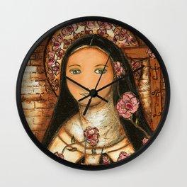 The Little Flower of Jesus Wall Clock