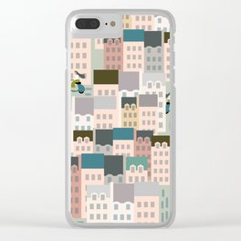 Motorbikes in the City Clear iPhone Case