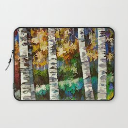 Enchanted Birch Forest Laptop Sleeve