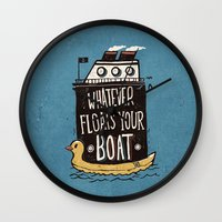 quotes Wall Clocks featuring Quotes by Ronan Lynam