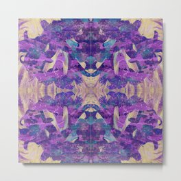 Purple revolution geometry Metal Print