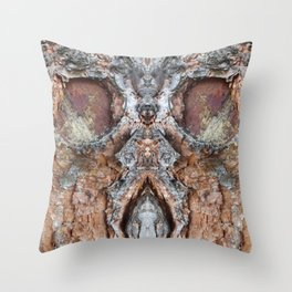 Tree face boo Throw Pillow