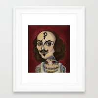 bill Framed Art Prints featuring Bill by Caitlin Viar