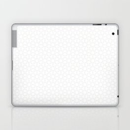 Stars and Lines Geometric Pattern on White Laptop & iPad Skin