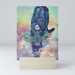 Spectral Cat Mini Art Print