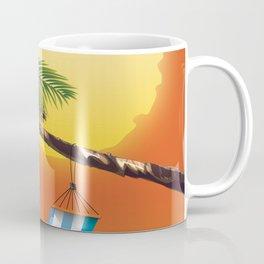 Hammock & Setting sun Coffee Mug