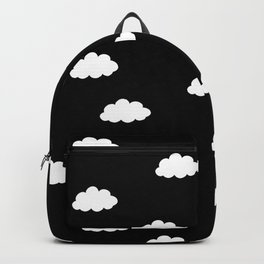 White clouds in black background Backpack