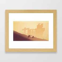 I Get By With A Little Help From My Friends Framed Art Print