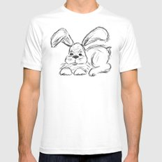 Hip Hop :: A Bunny Rabbit Mens Fitted Tee White MEDIUM