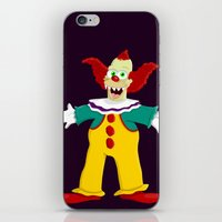 pennywise iPhone & iPod Skins featuring Krusty by Fransisqo82