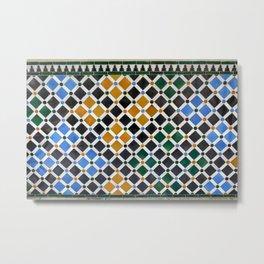 Alhambra Tiles Metal Print