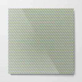 Three Color Cubes Metal Print
