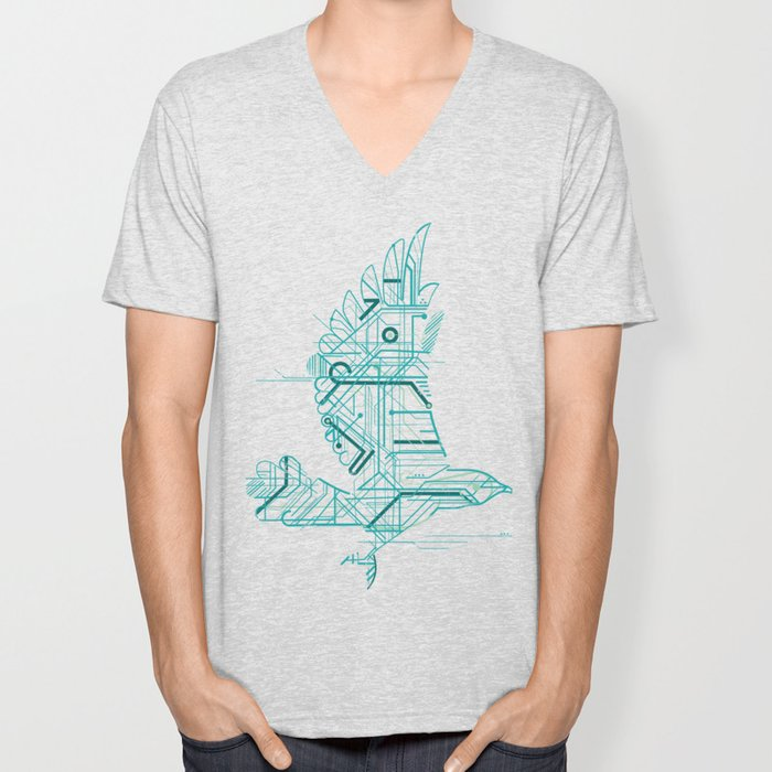 Wind-Up Bird Unisex V-Neck