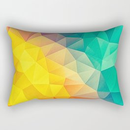 Abstract Multi Color Rectangular Pillow