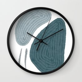Calm Colored Shapes 05 Wall Clock