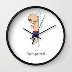 Tiger Uppercut Wall Clock