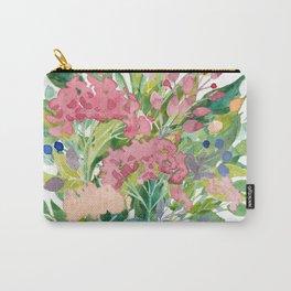 Watercolour Floral Bouquet, handpainted original art, watercolor flowers. Carry-All Pouch