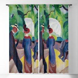 August Macke - Promenade Blackout Curtain