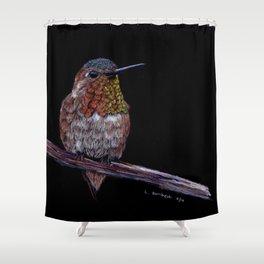 Hummingbird -Frontal View Shower Curtain