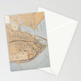 Vintage Map of Quebec City (1915) Stationery Cards