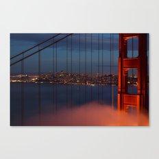 Bridge and City Canvas Print