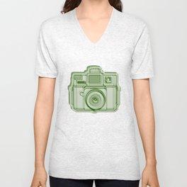 I Still Shoot Film Holga Logo - Reversed Green Unisex V-Neck