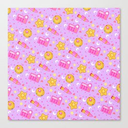 Usagi's Items Pattern / Sailor Moon  Canvas Print