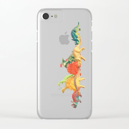 Walking With Dinosaurs Clear iPhone Case