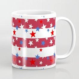Star Spangled Red and White Stripes Coffee Mug