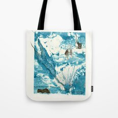 mermaid of Zennor collagraph 1 Tote Bag