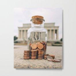 Lincoln Memorial Coins Metal Print