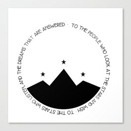 to the people who look at the stars and wish Canvas Print