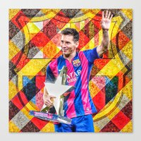 messi Canvas Prints featuring Messi by Cr7izbest