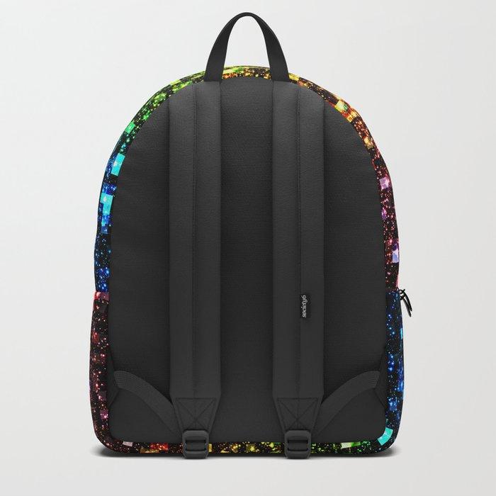 Geometric Galaxy Stars : Rainbow Backpack