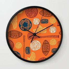 Sports Pattern Wall Clock