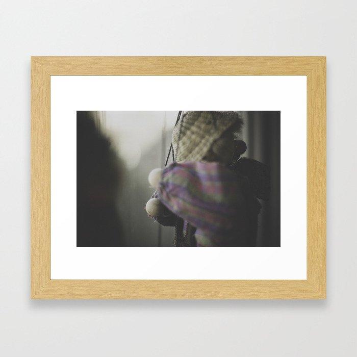 Clown Puppet Framed Art Print