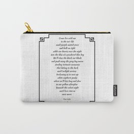 Twi-Life Poetry Print Carry-All Pouch