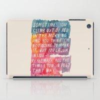 bukowski iPad Cases featuring Charles Bukowski by Mei Lee