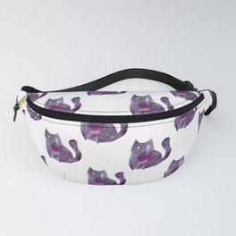 Purple Cat Pattern Fanny Pack